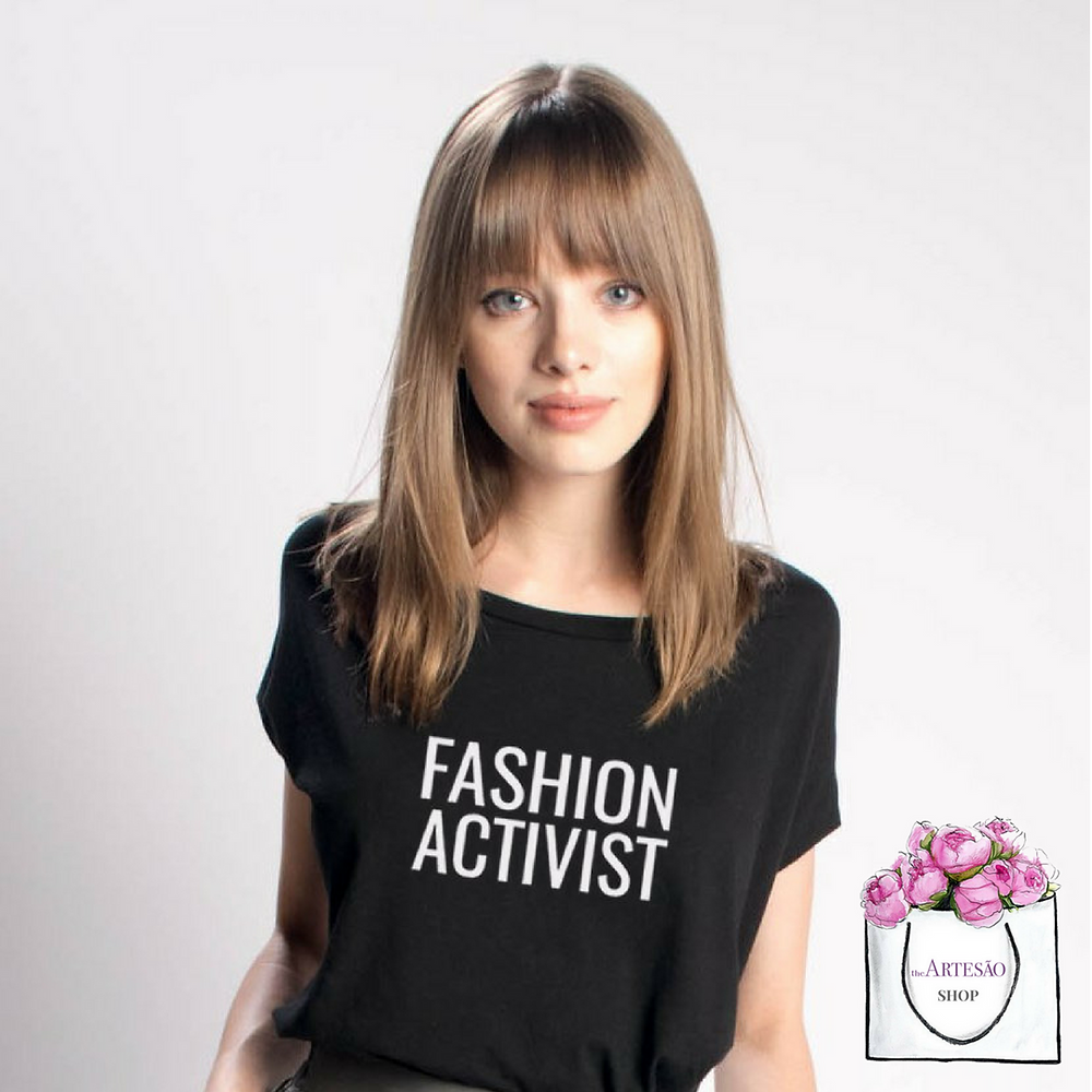 Bead & Reel Fashion Activist Tee, 100% gmo-free organic cotton jersey, cut and sewn and screen printed in LA, $48