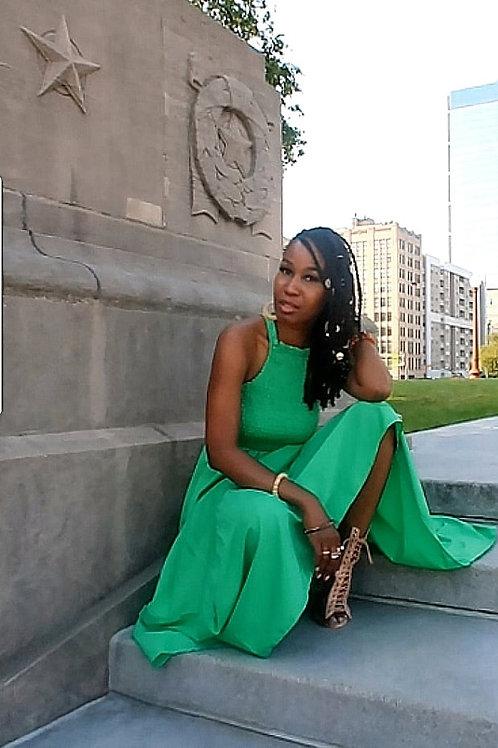 Green Ribbed Dress