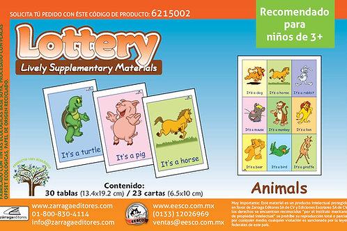 Loteria animales en Inglés recomendado para edades 3+
