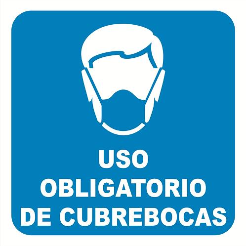 Uso Obligatorio de Cubrebocas