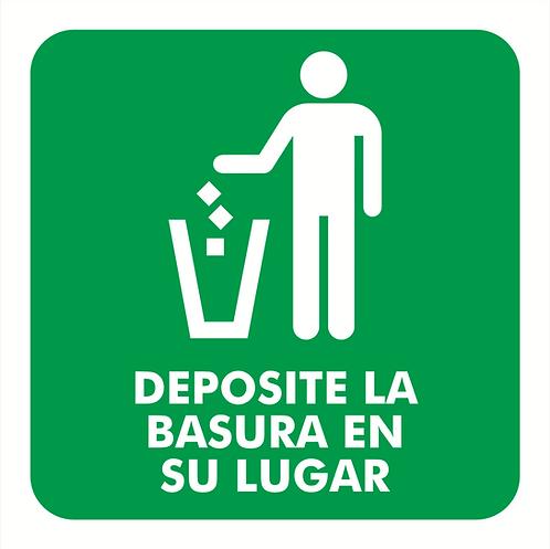 Deposité la basura en su lugar