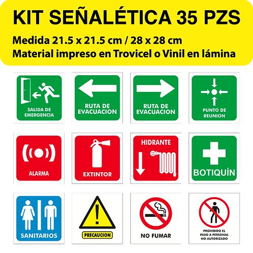 Paquete Señalética Grande 35 pzs