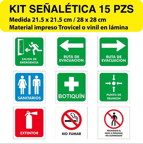 Paquete Señalética Pequeño 15 pzs