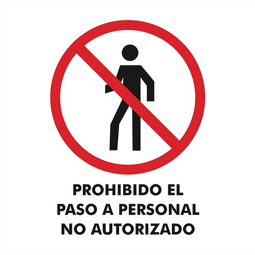 Prohibido El Paso Personal No Autorizado
