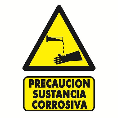 Precaución Sustancia Corrosiva