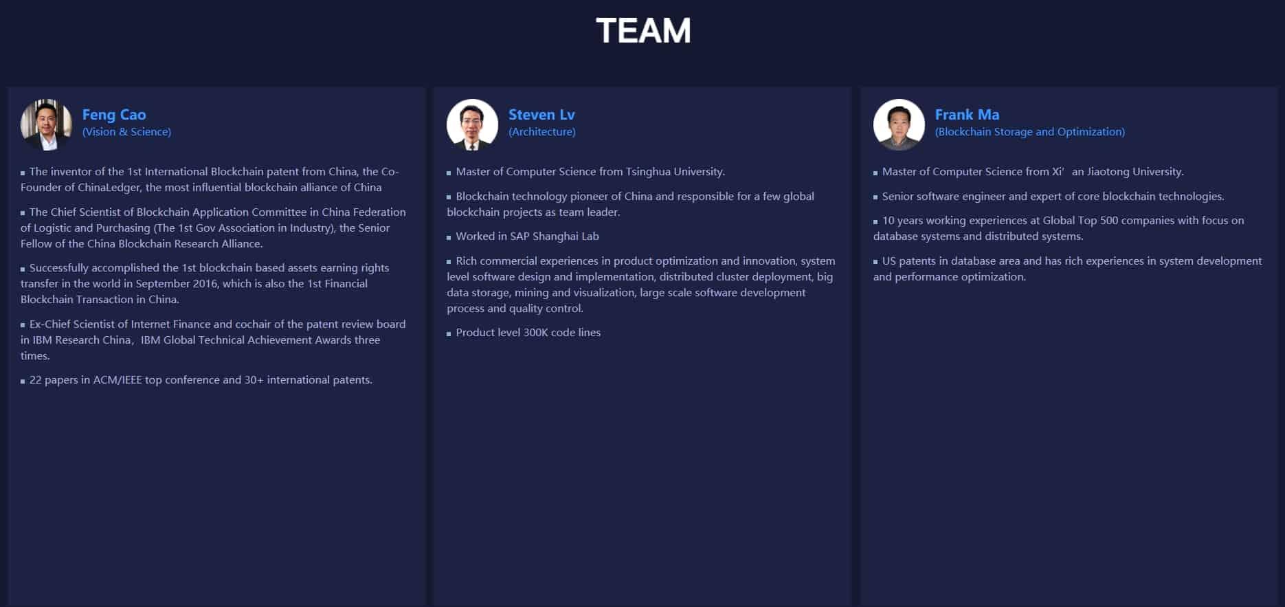pchain core team members