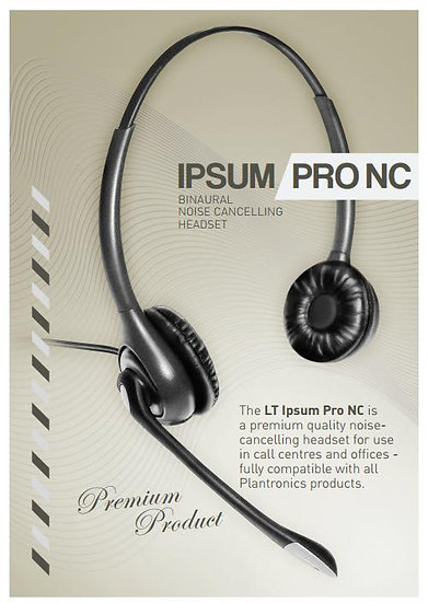 Ipsum Pro NC Binaural noise cancelling headset