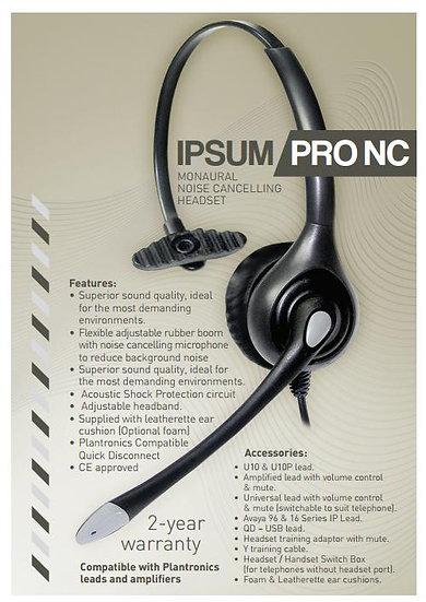 Ipsum Pro NC Monaural noise cancelling headset