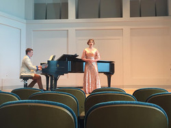 In recital at Jacobs School of Music