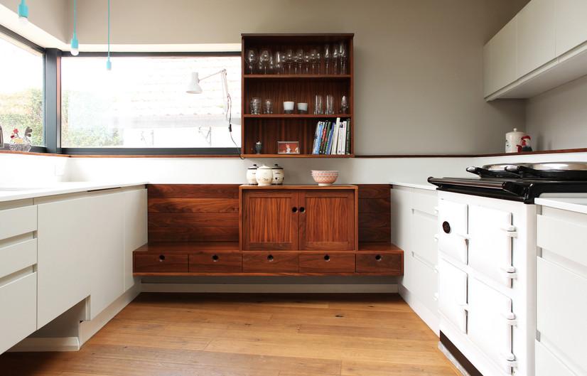 H Miller Bros   Luxury walnut handmade kitchen dresser   Manchester, Cheshire, Liverpool, Wirral, North Wales