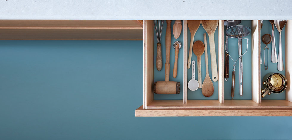 Bepsoke-kitchen-drawer-ined-with-blue-vi