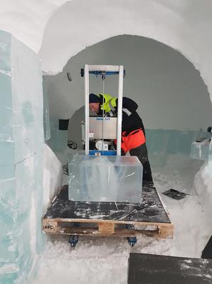 H Miller Bros | Hugh and Howard Miller win design competition to design Art Suite for IceHotel Sweden