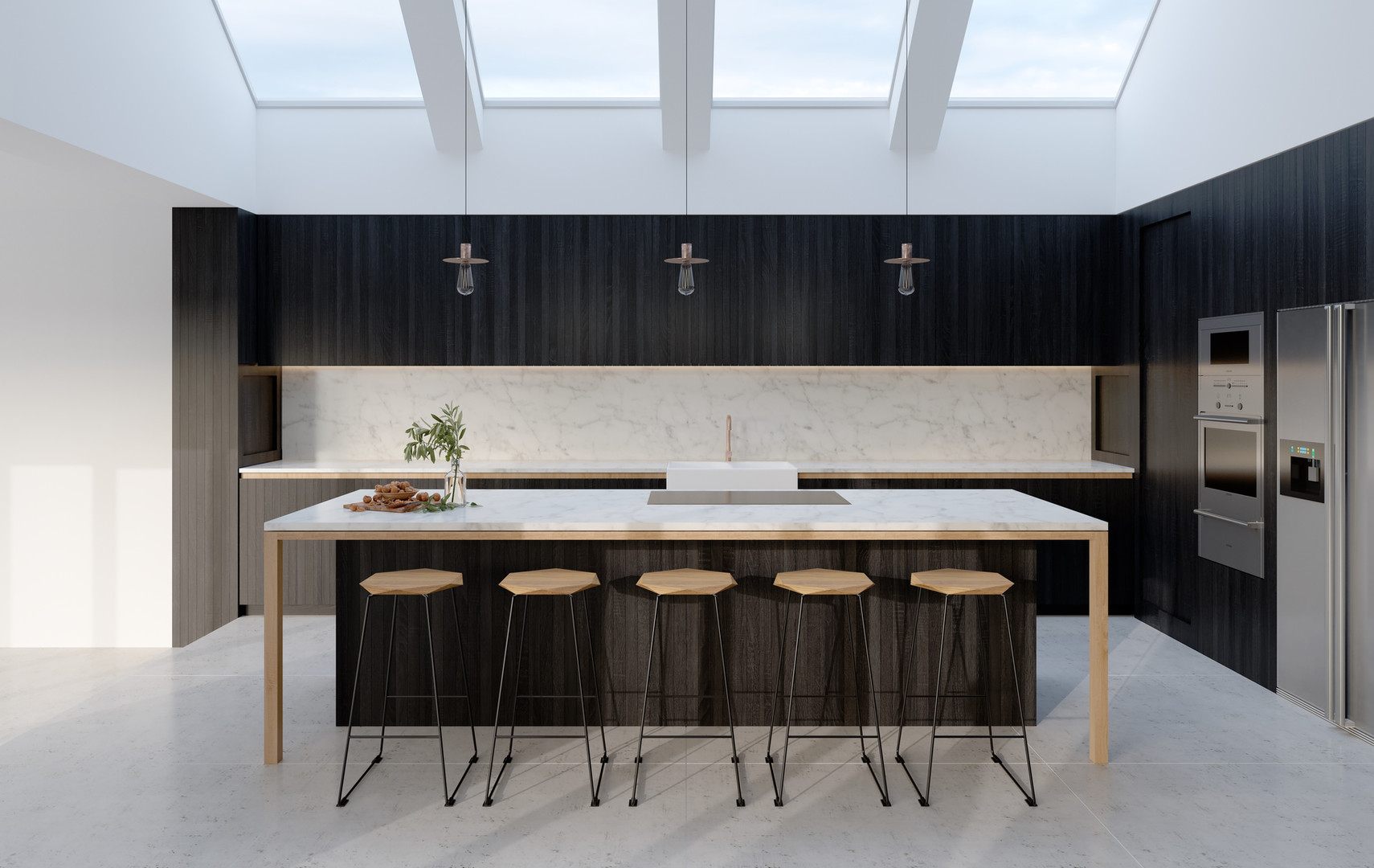 H Miller Bros | Luxury kitchen in Islington, handmade in oak