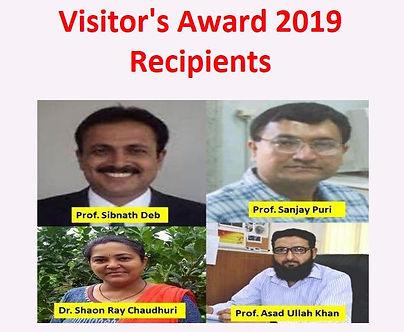 आगंतुक पुरस्कार 2019 प्राप्तकर्ता की घोषणा