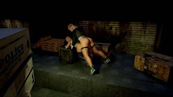 Big Futanari fucks Girl outside