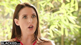 AUSTRALIAN Angela White Enormous Natural Tits are Perfect for Big black dick