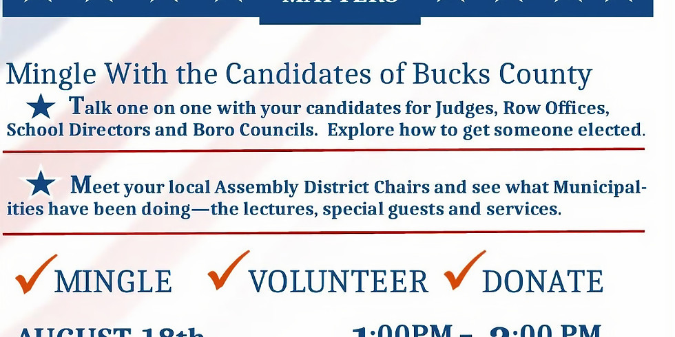 Mingle with the 2019 Candidates