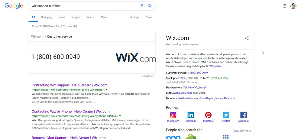 wix-support-number