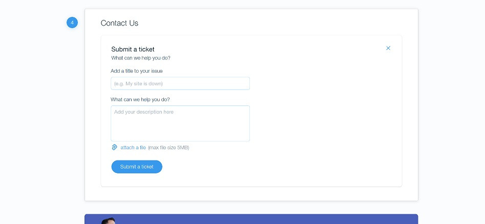 Wix-support-ticket-fields