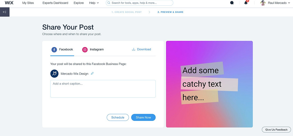 wix-social-posts-share
