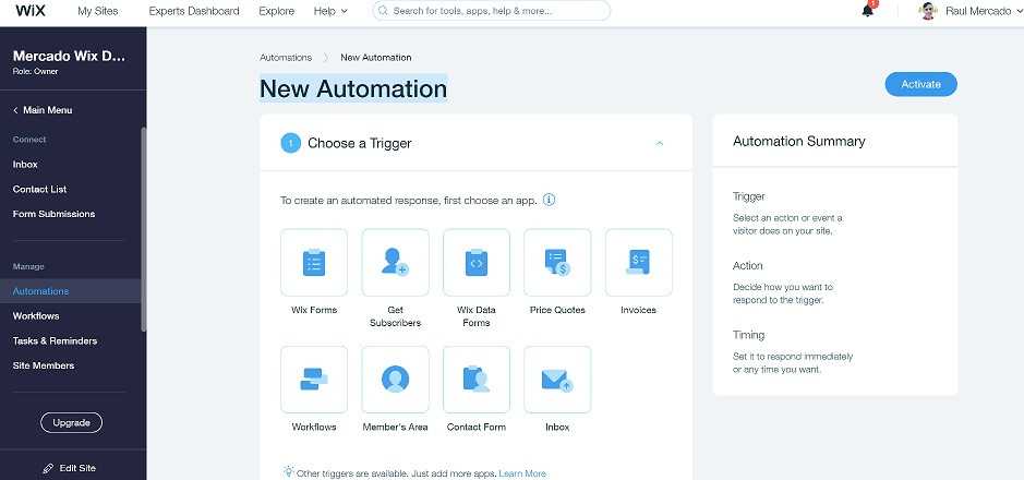 wix-automations-new-automations-page