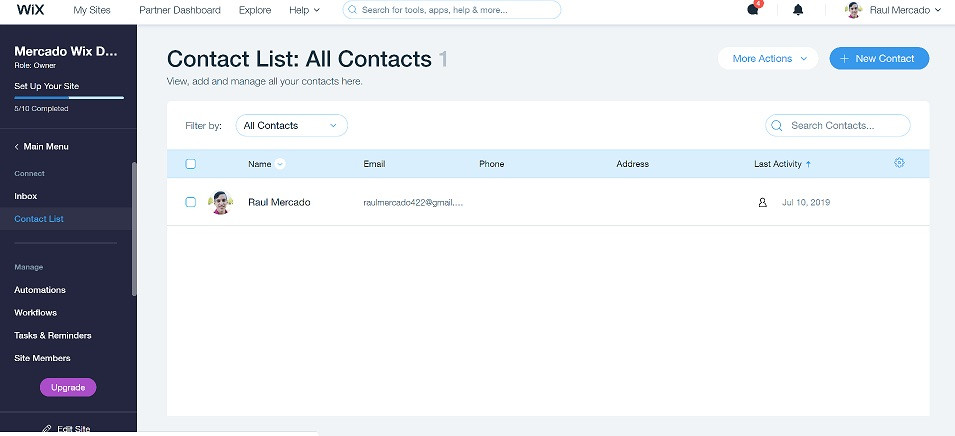 Wix-contacts-list