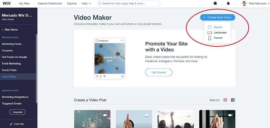 wix-video-maker-create-new-video