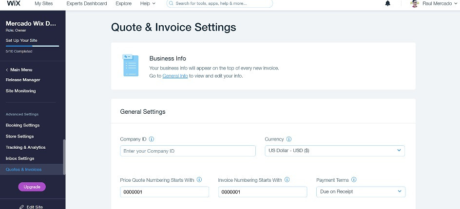 wix-quotes-and-invoices-settings