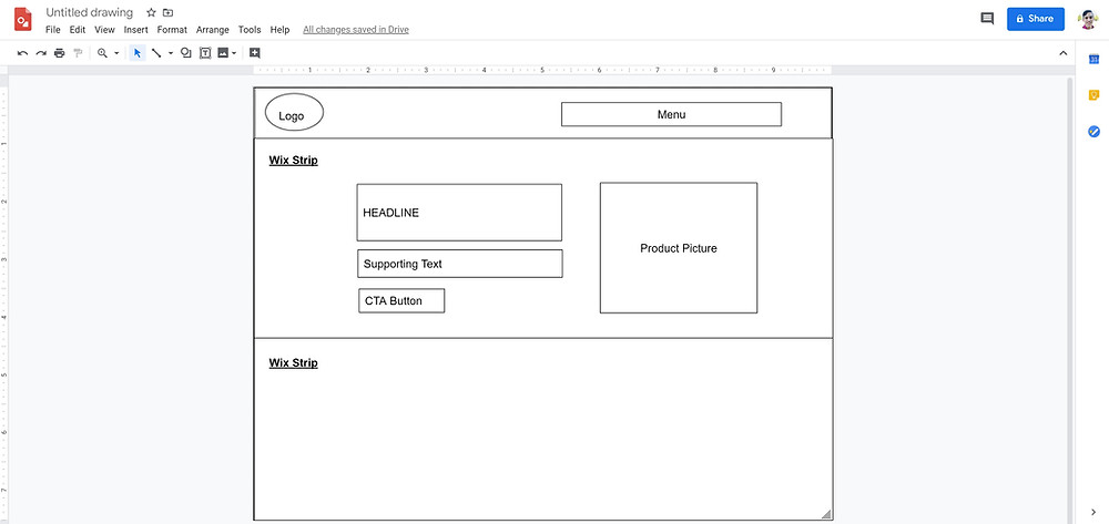 Google drawing Wix Site