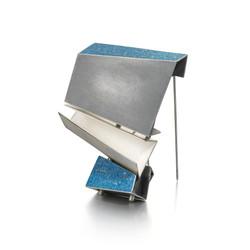 Distorted Blue Brooch