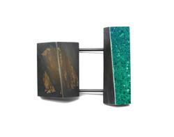 Spaced Green Brooch
