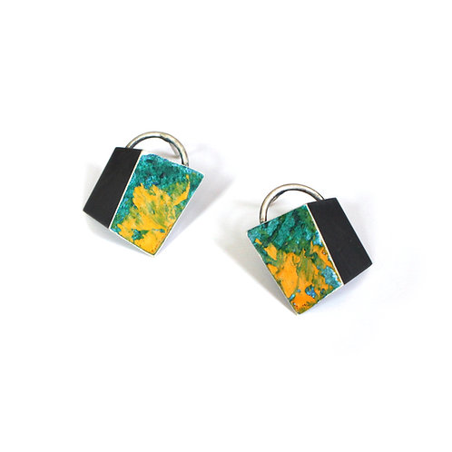 YELLOW SPLASH FOLD STUDS