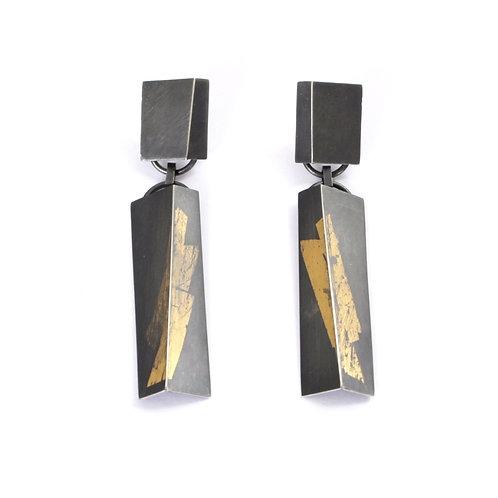 GOLD FLASH DANGLE-FOLD EARRINGS