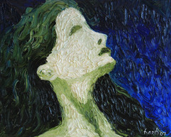 Lady Blue 24x30 Oil on Canvas
