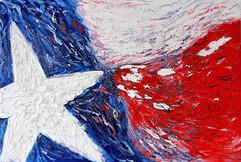 Texas Flag 48x72 Oil on Canvas
