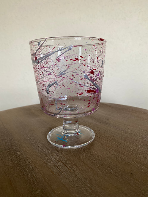 Painted Glass Cup #6