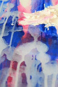 Purple Ballerina 48x36 Oil on Canvas