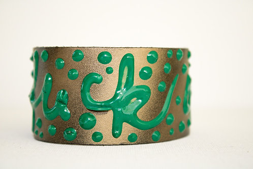 Fuck Off Bracelet - Gold, Green, Green