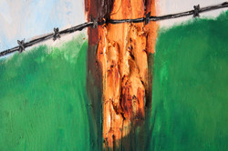 The Fence 69x95 Oil on Canvas
