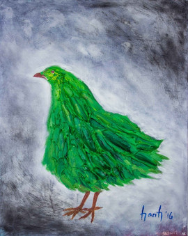 Green Chicken 30x24 $2700