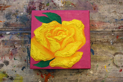 Abstract Open Rose Canvas