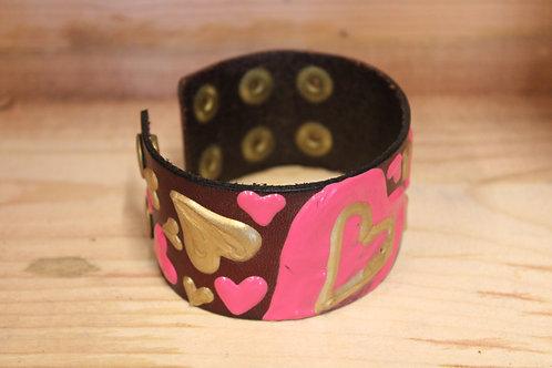 Painted Leather Bracelet #13
