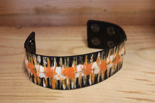 Painted Leather Bracelet #15