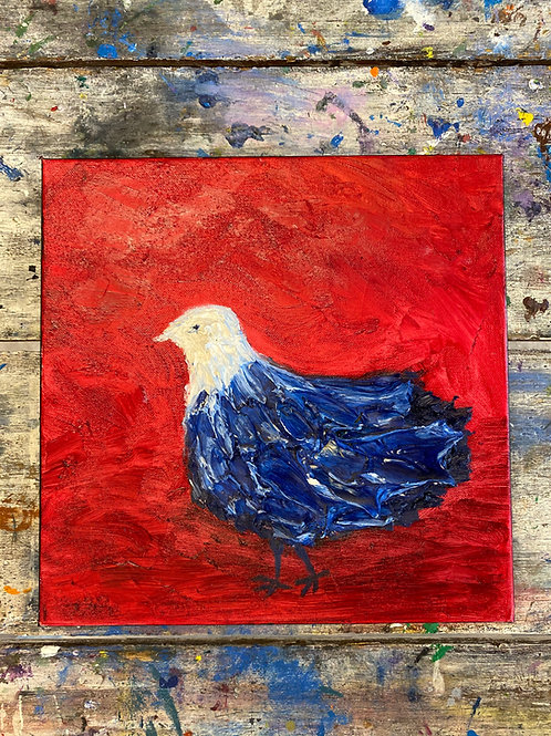 Abstract Red, White, & Blue Bird