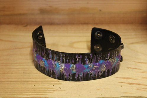 Painted Leather Bracelet #79