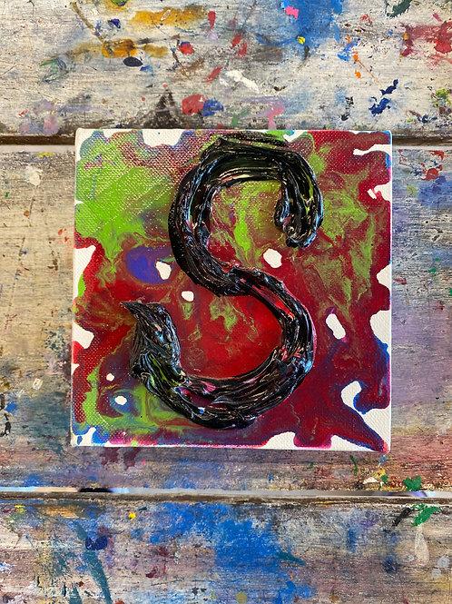 Mini Letter S Canvas