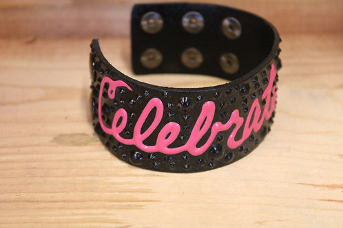 Painted Leather Bracelet #8
