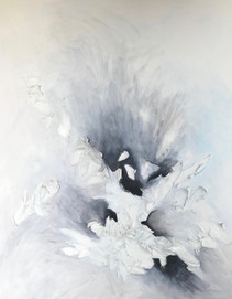 Black and White Abstract II 60x48 Oil on Canvas