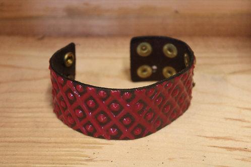 Painted Leather Bracelet #59