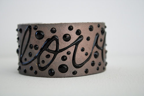 Love Bracelet - Pewter, Black & Black